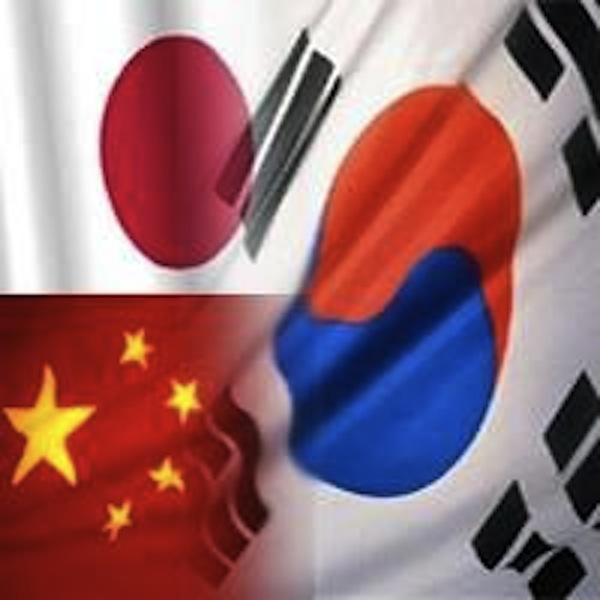 Japan, China, Korea